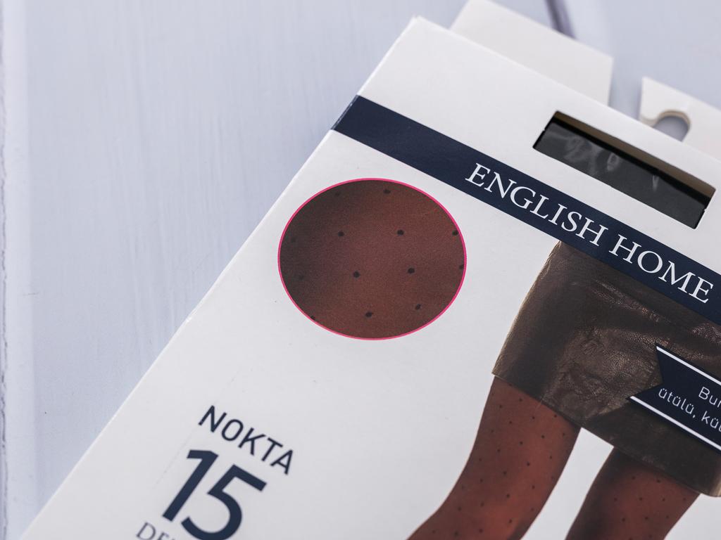 Puantiye İnce Külotlu Çorap 2 Siyah