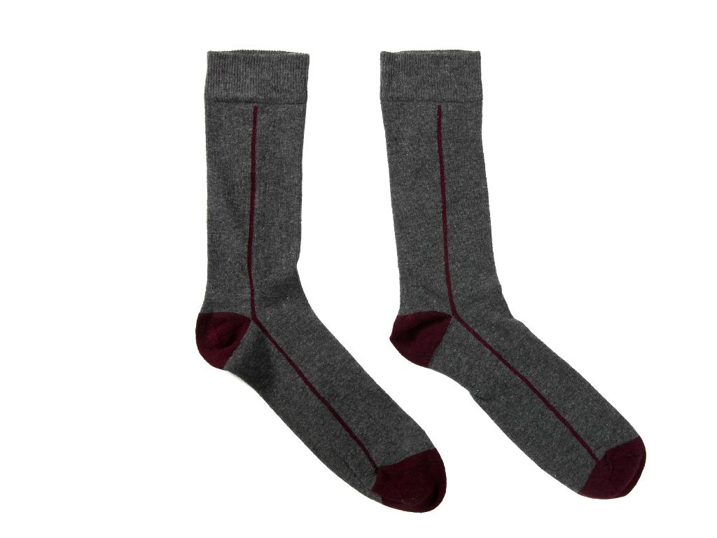 Sky Pamuklu Erkek Soket Çorap Çorap 40-44 Gri Melanj
