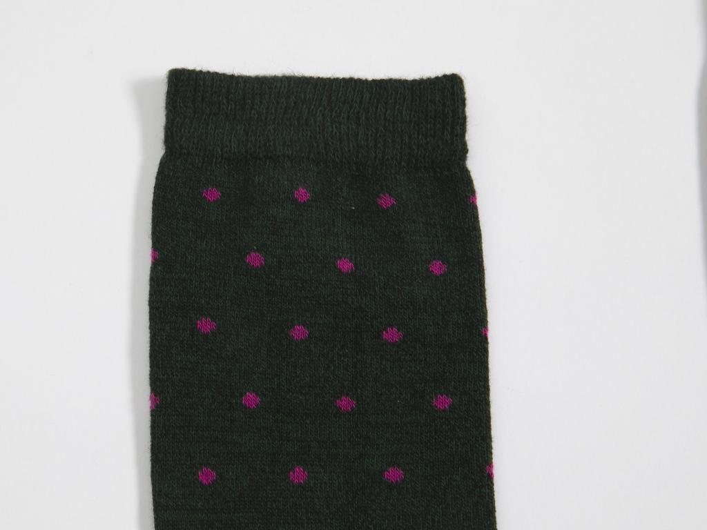 Puantiye Pamuklu Bayan Soket Çorap 35-39 Yeşil