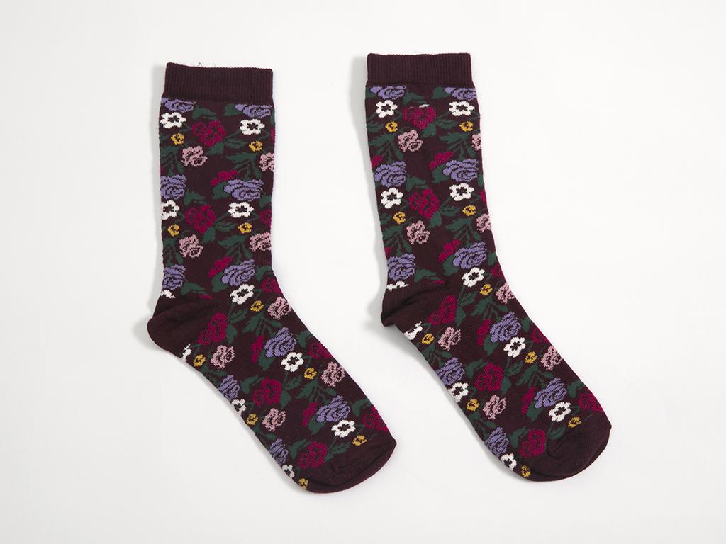 Secret Garden Pamuklu Bayan Soket Çorap 35-39 Bordo
