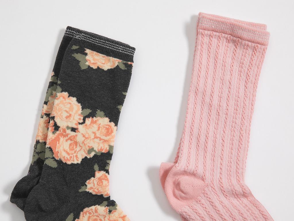 Blossom 2'li Set Çorap 35-39 Siyah