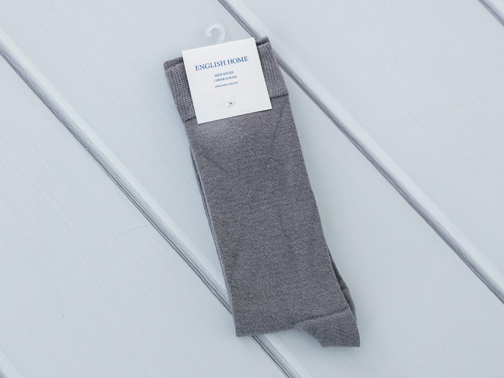 Basic Soft Erkek Soket Çorap Çorap 40-44 Gri