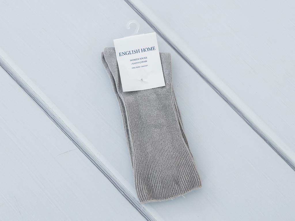 Basic Soft Bayan Soket Çorap 35-39 Gri