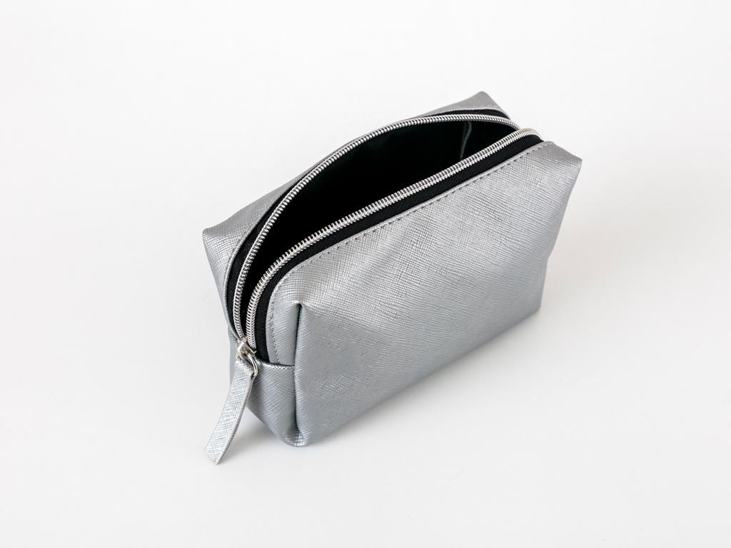 Silvery Makyaj Çantası 19x12x5 Cm Gümüş
