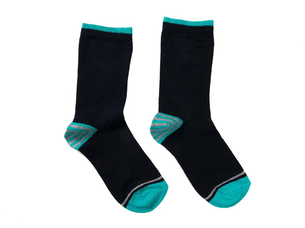 Stripe Çocuk Çorap 2-4 Yaş Turkuaz