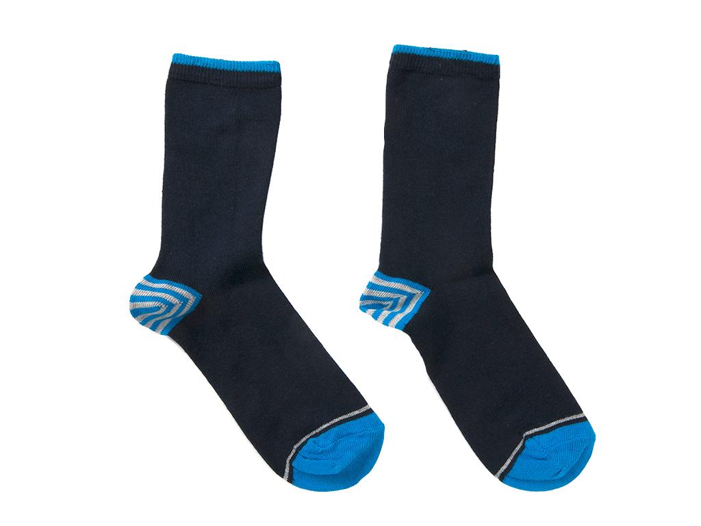 Stripe Çocuk Çorap 2-4 Yaş Mavı