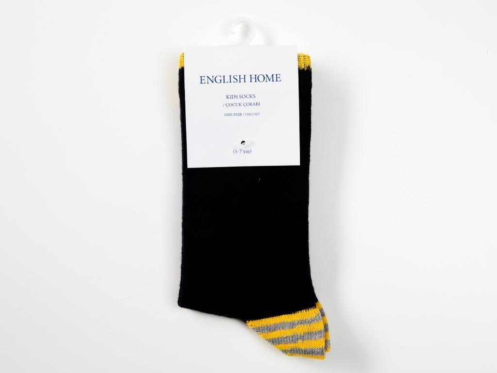 Stripe Çocuk Çorap 5-7 Yaş Sarı