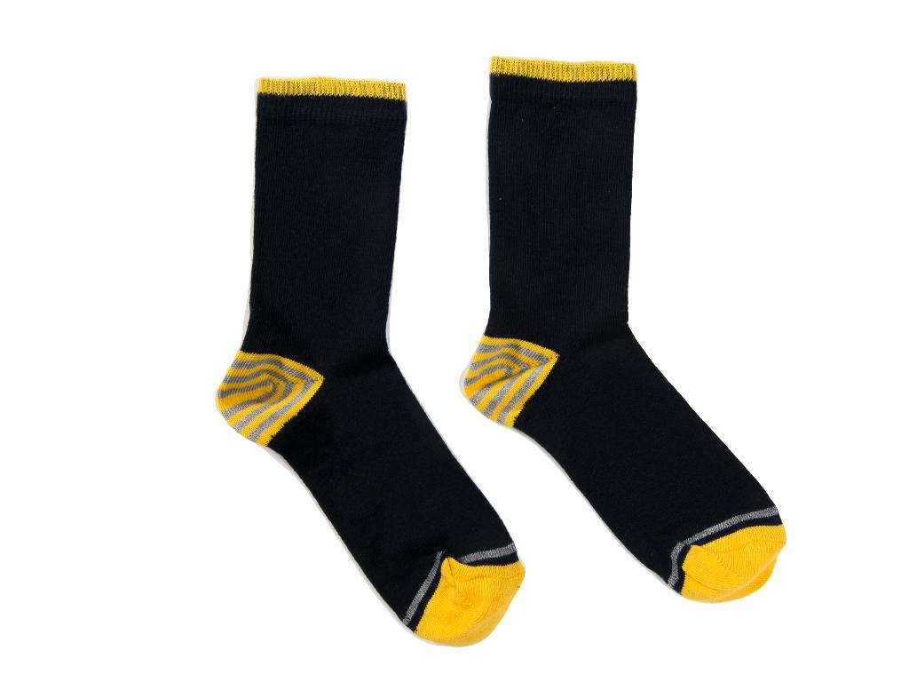 Stripe Çocuk Çorap 2-4 Yaş Sarı