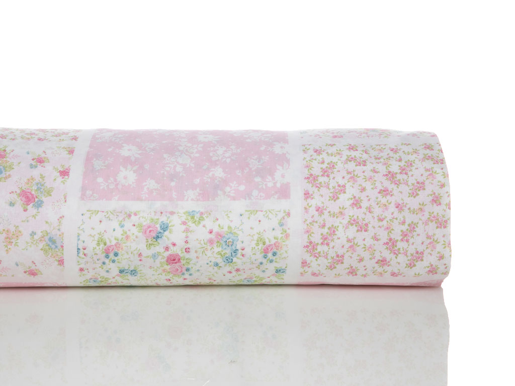 Rosy Patch Pamuklu Tek Kişilik Bebe Nevresim 160x220 Cm Pembe