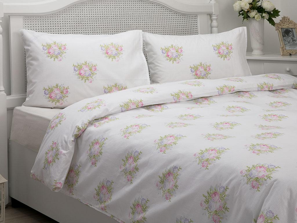 Pale Roses Pamuklu Tek Kişilik Nevresim 160x220 Cm Pembe