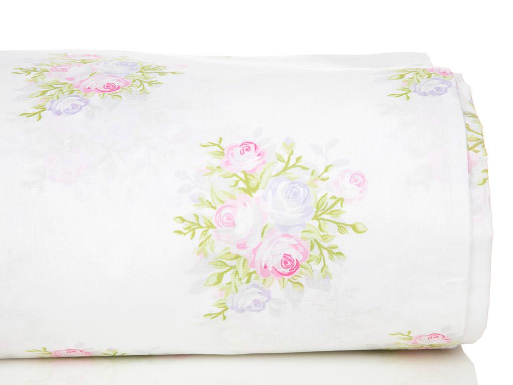 Pale Roses Pamuklu Tek Kişilik Nevresım 160x220 Cm Pembe