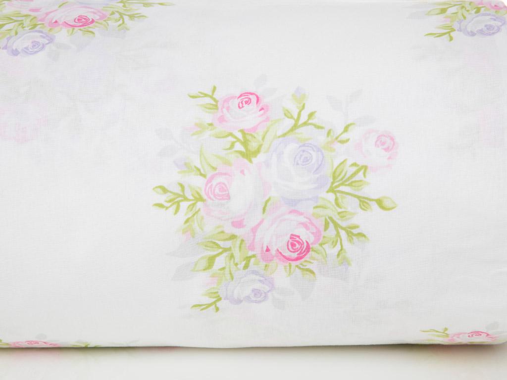 Pale Roses Pamuklu Çift Kişilik Nevresım 200x220 Cm Pembe