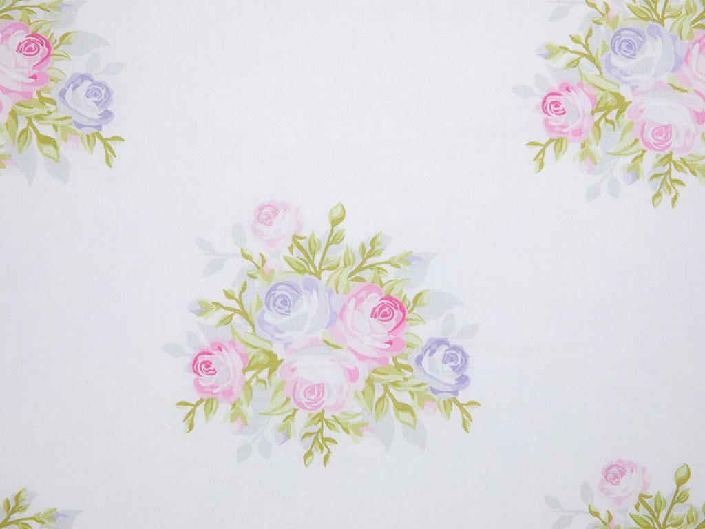 Pale Roses Pamuklu 2'li Pano Yastık Kılıfı 50x70 Cm Pembe