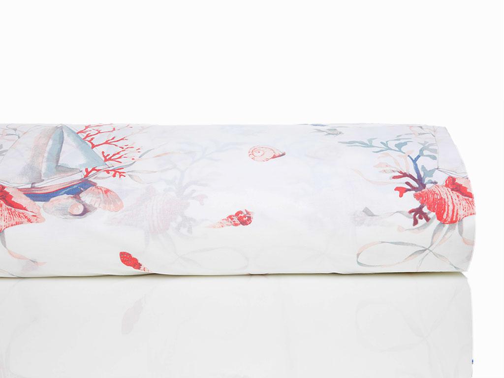 Sea Pearl Pamuklu Tek Kişilik Nevresım 160x220 Cm Mercan