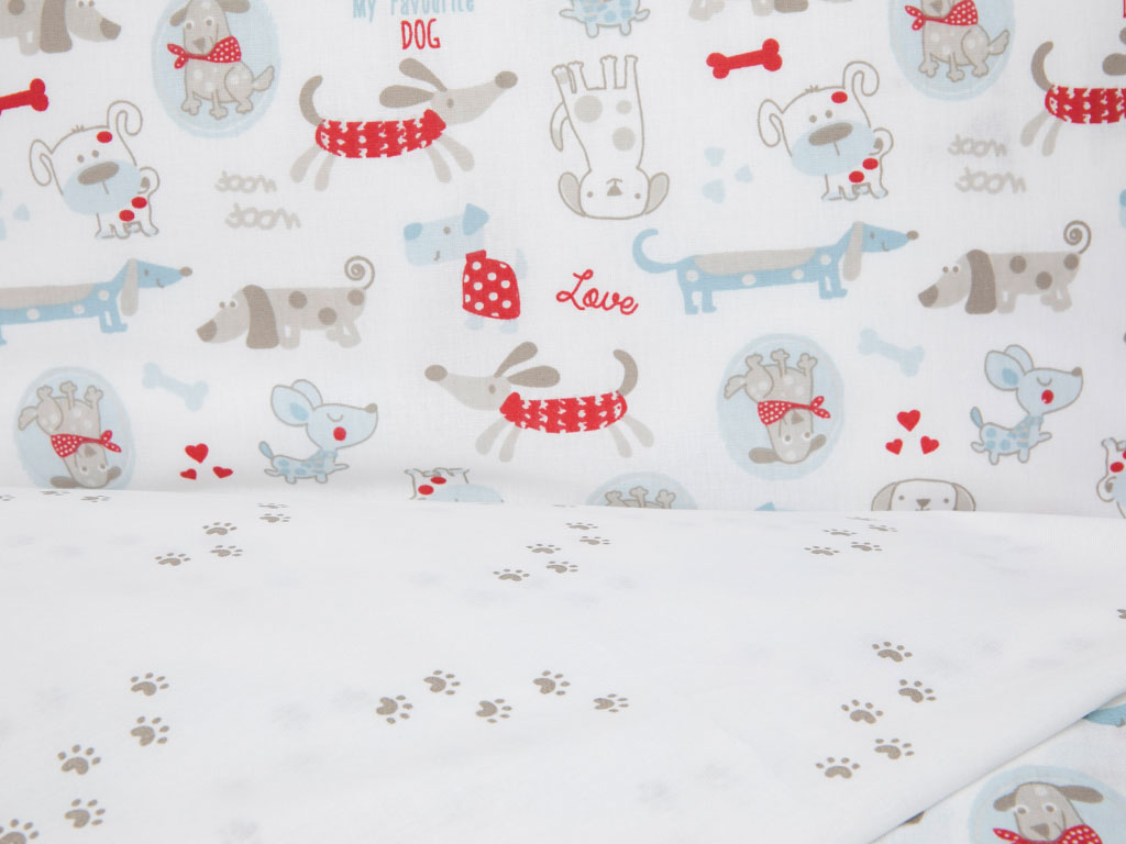 My Dog Pamuklu Bebe Nevresim Takımı 100x150 Cm Kırmızı