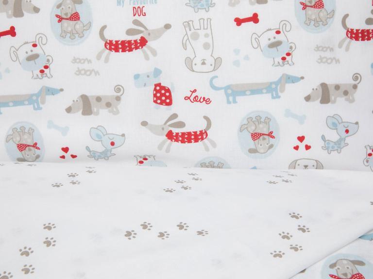 My Dog Pamuklu Bebek Nevresim Takımı 100x150 Cm Kırmızı