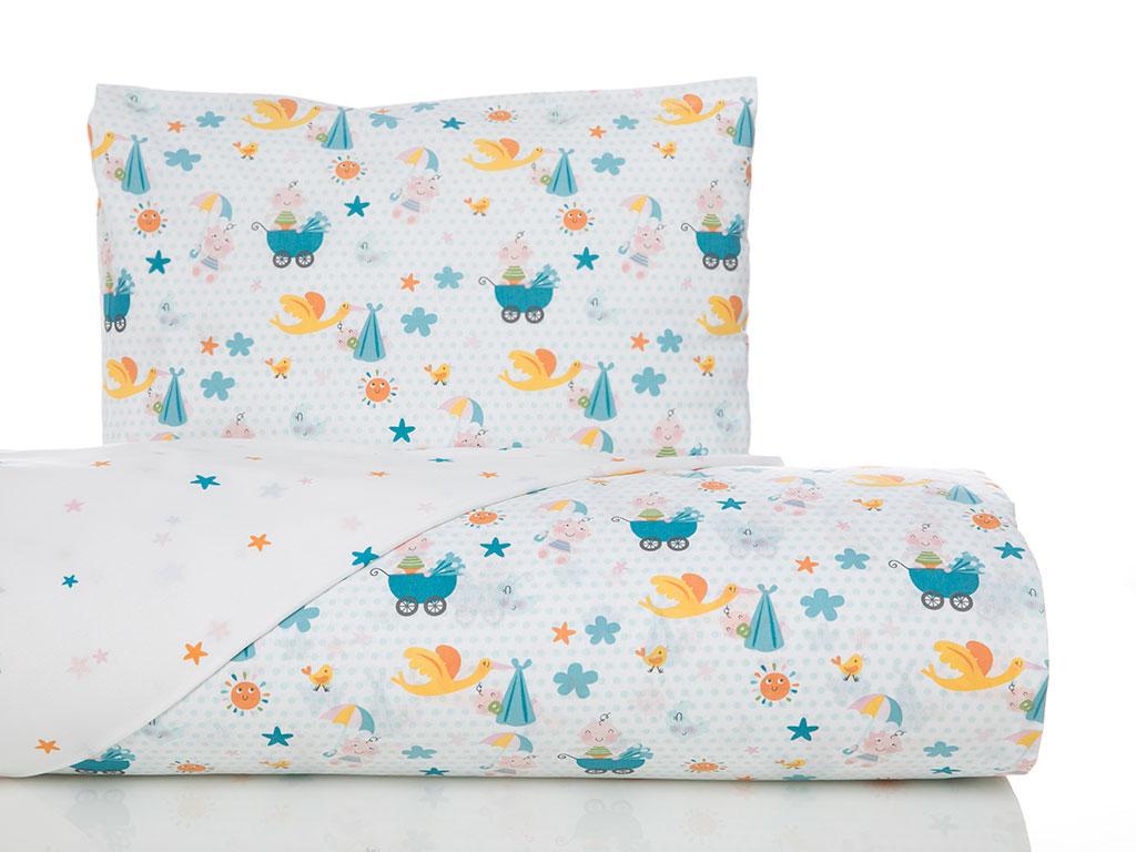 Summer Babies Pamuklu Bebe Nevresim Takımı 100x150 Cm Sarı