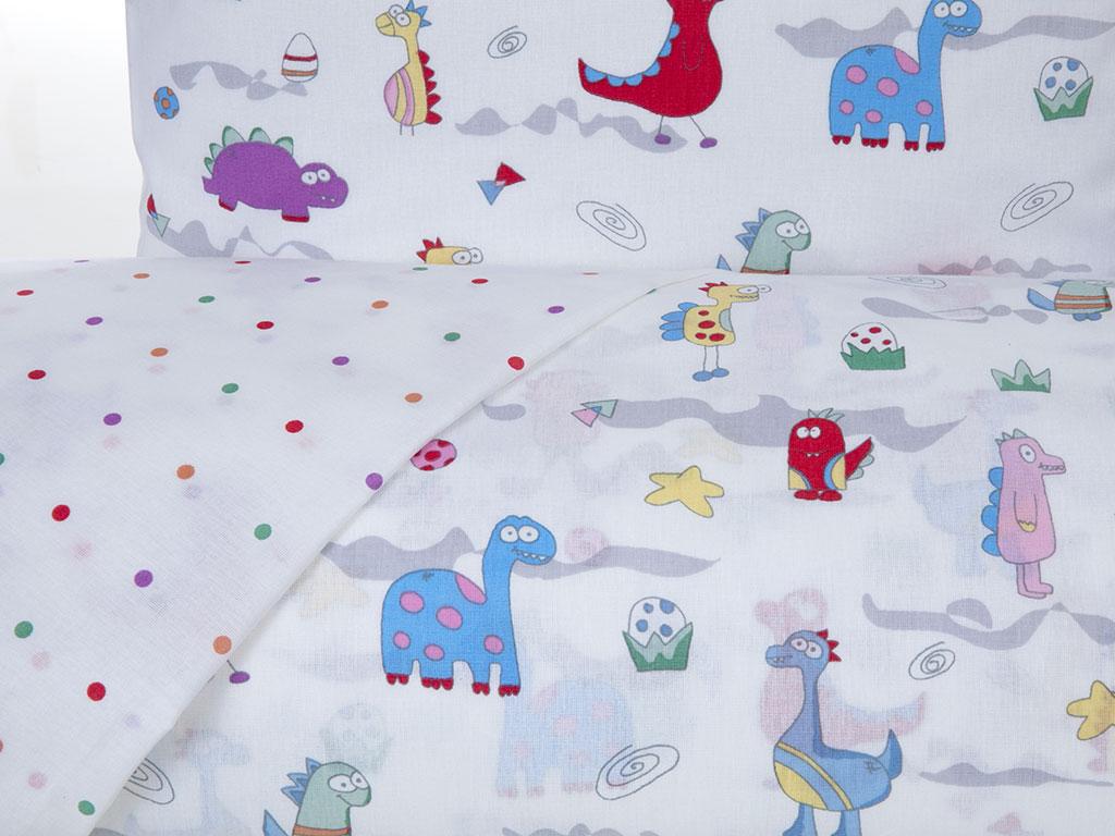 Gofy Dinos Pamuklu Bebe Nevresım Takımı 100x150 Cm Mor