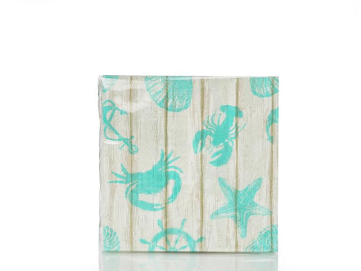 Seashell Kağıt Kağıt Peçete 33x33 Cm Mavi