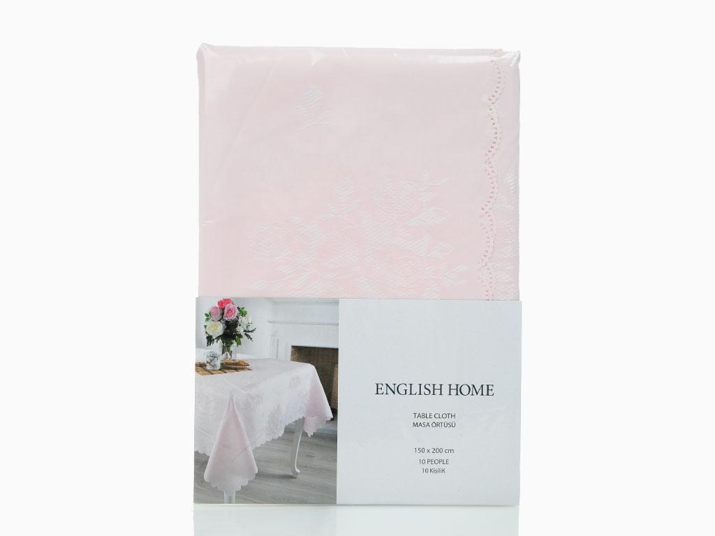 Roses Masa Örtüsü 150x200 Cm Pembe