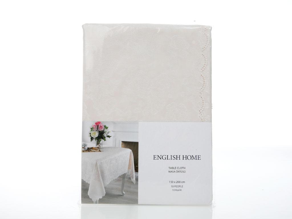 Roses Masa Örtüsü 150x200 Cm Taş Rengi