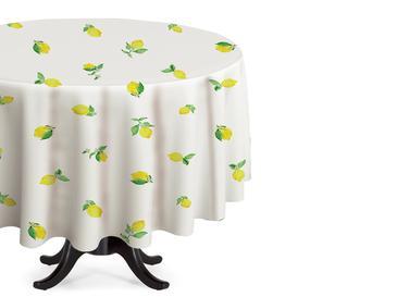 Lemon Pvc Masa Örtüsü 140 Cm Beyaz - Sarı