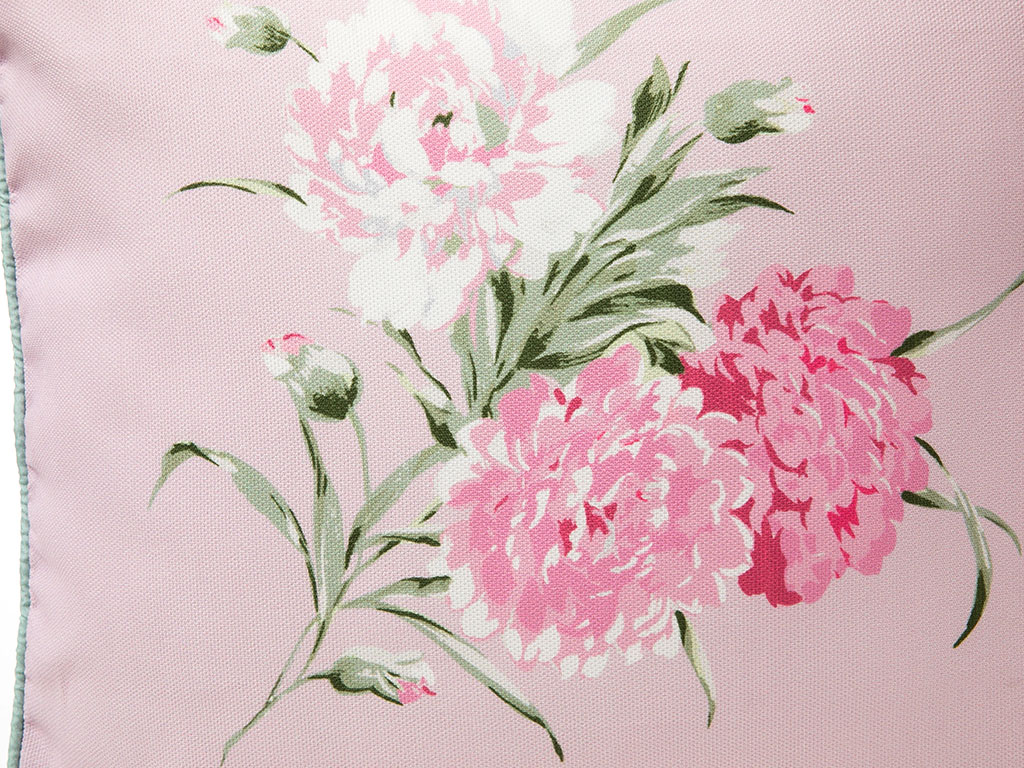 Carnation Dijital Baskı Kırlent 45x45 Cm Pembe
