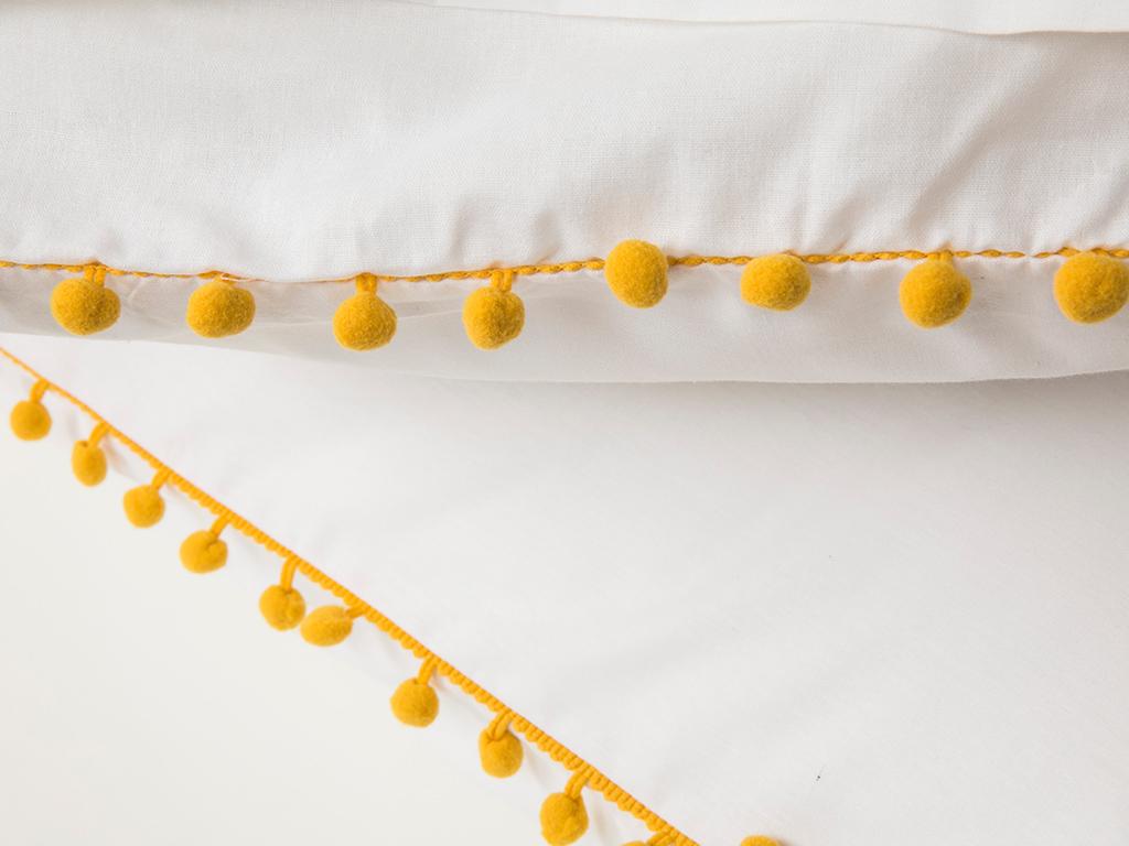 Mimosa Flower Pamuklu 2'li Yastık Kılıfı 50x70 Cm Sarı