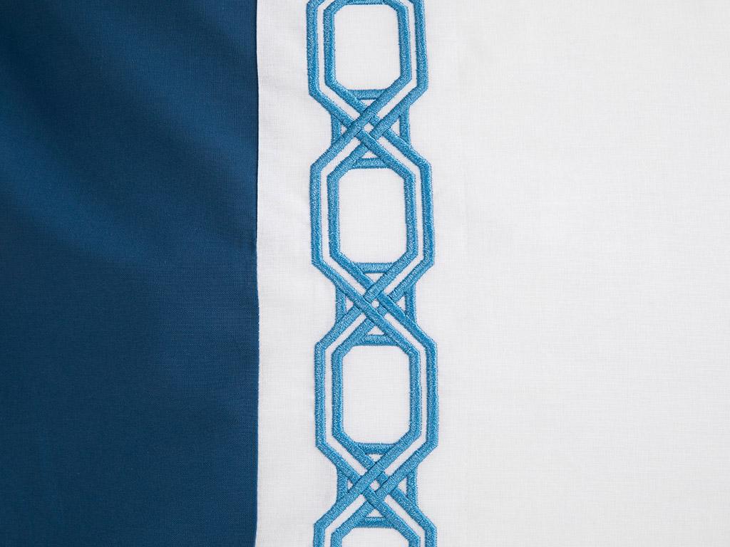 Adelmo Pamuklu Yastık Kılıfı 50x70 Cm Lacivert