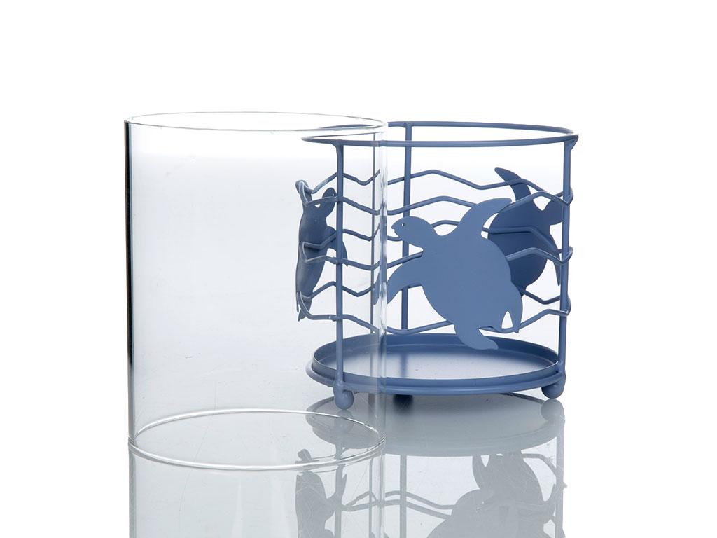 Caretta Cam Mumluk 10,5x10,5x13 Cm Mavi