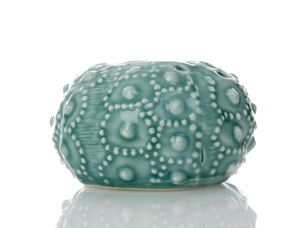 Sea Shore Porselen Mumluk 10x9,5x6,5 Cm Yeşil