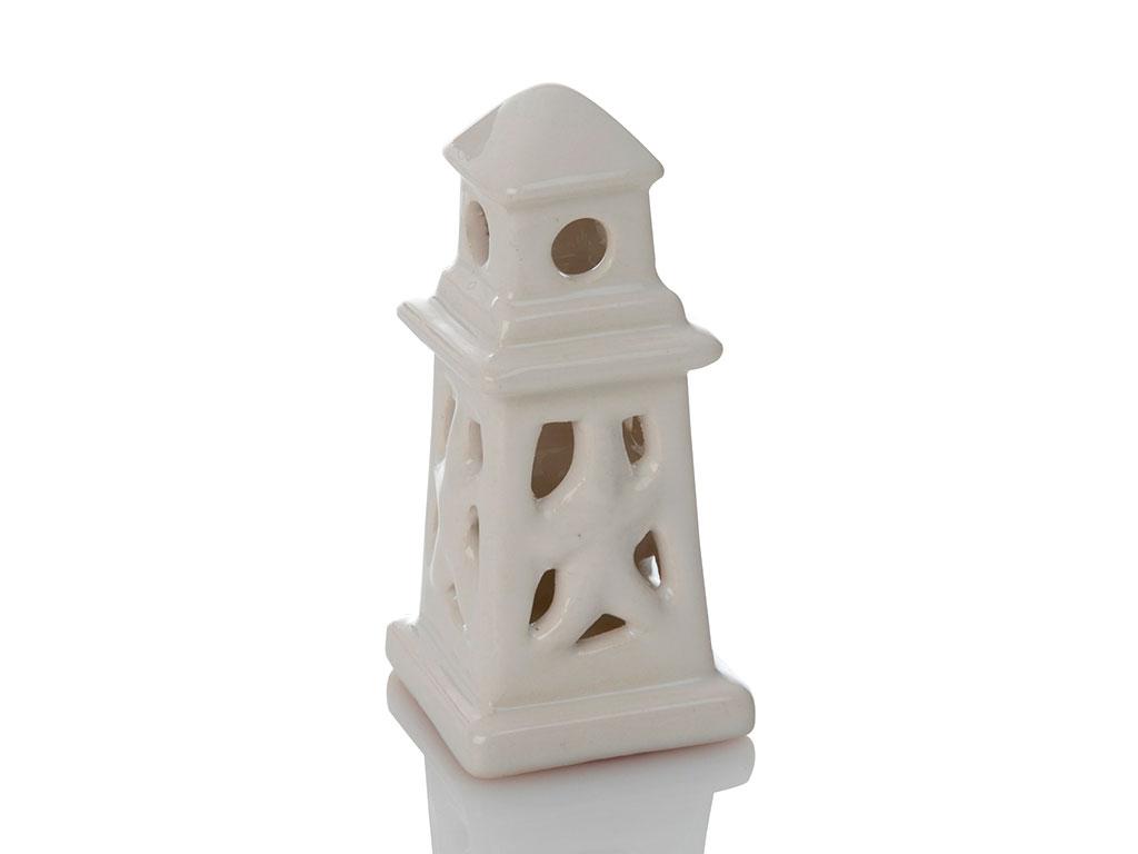 Lighthouse Porselen Bıblo 5x5x11 Cm Beyaz