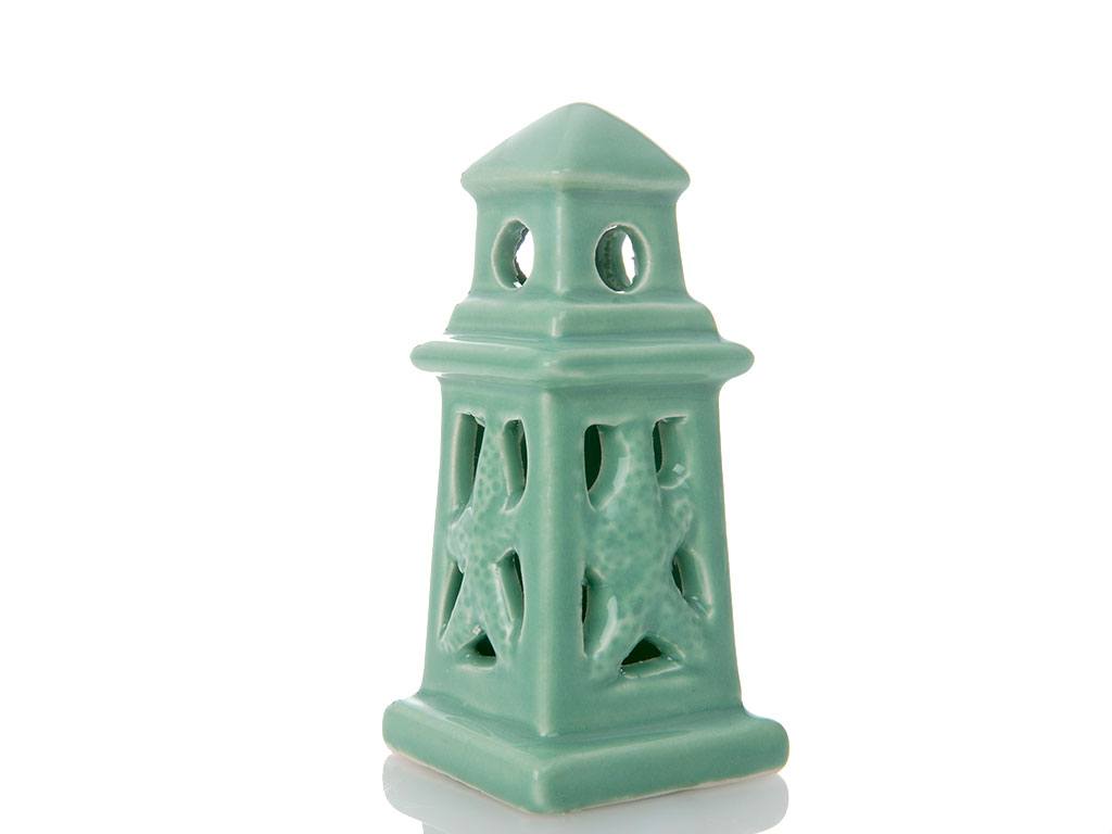 Lighthouse Porselen Biblo 5x5x11 Cm Yeşil
