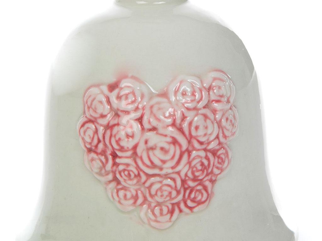 Fancy Roses Porselen Bıblo 8,6x8,6x12,2 Cm Beyaz