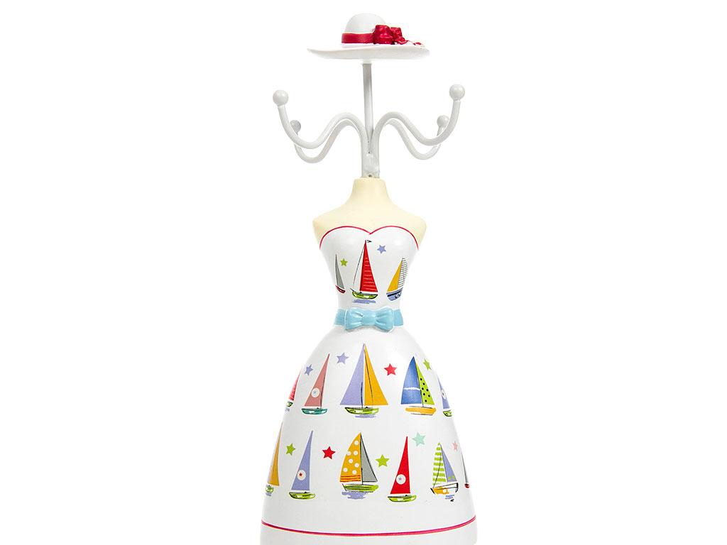 Sailor Polyresin Takılık 8,5x8x32 Cm Kırmızı - Beyaz
