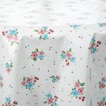 Rosy Life Pvc Masa Örtüsü 140 Cm Pembe - Beyaz