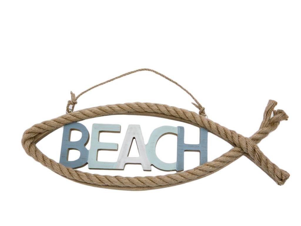 Beach Tablo 40x13.5x3 Cm Mavi