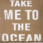 Sea Life Jüt Dolgusuz Kırlent 40x40 Cm Krem