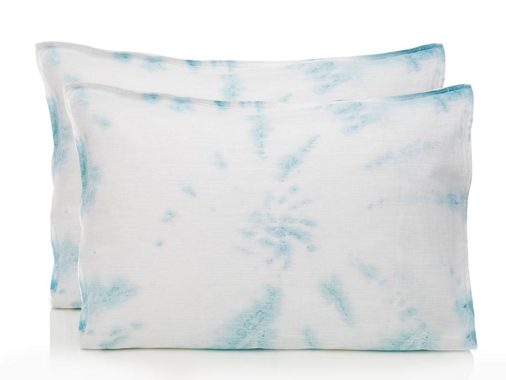 Ocean Tears Pamuklu 2'li Yastık Kılıfı 50x70 Cm Açık Mavi