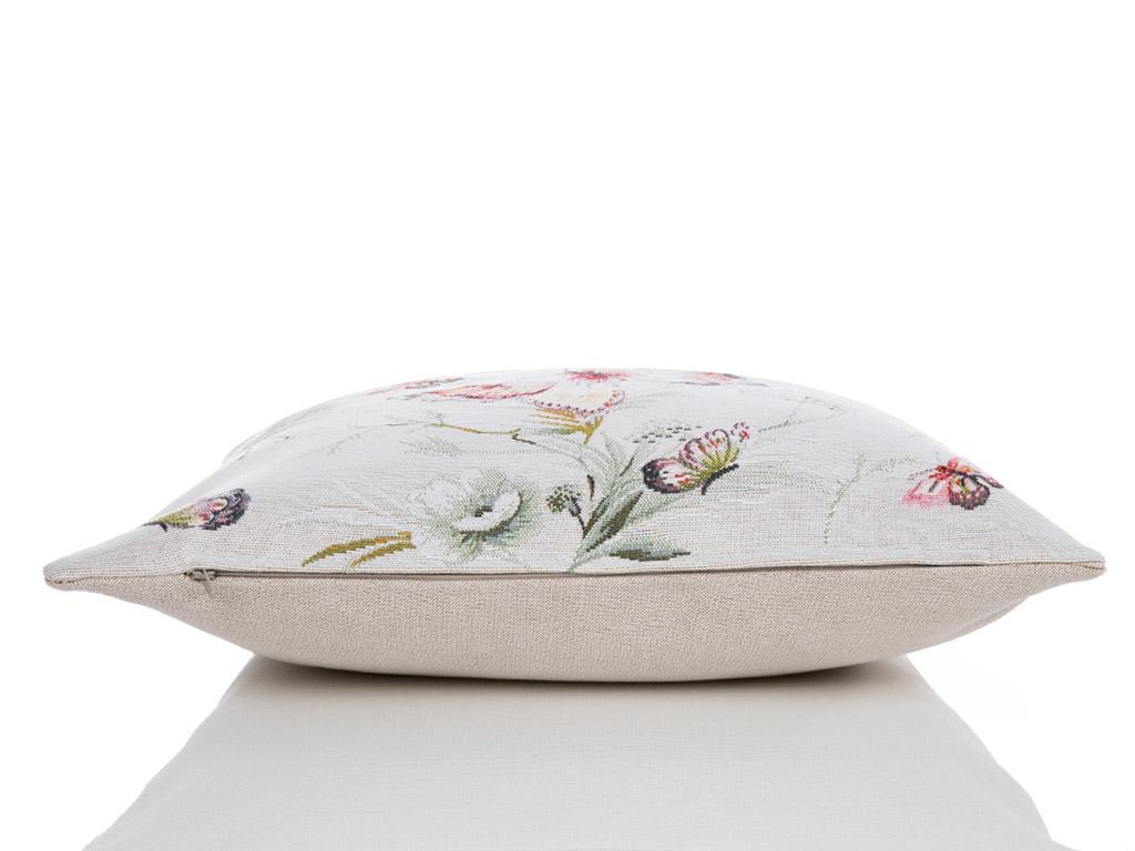 Pupa Garden Goblen Kırlent 45x45 Cm Pembe - Lila