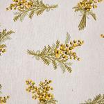 Mimosa Goblen Kırlent 35x50 Cm Beyaz - Sarı