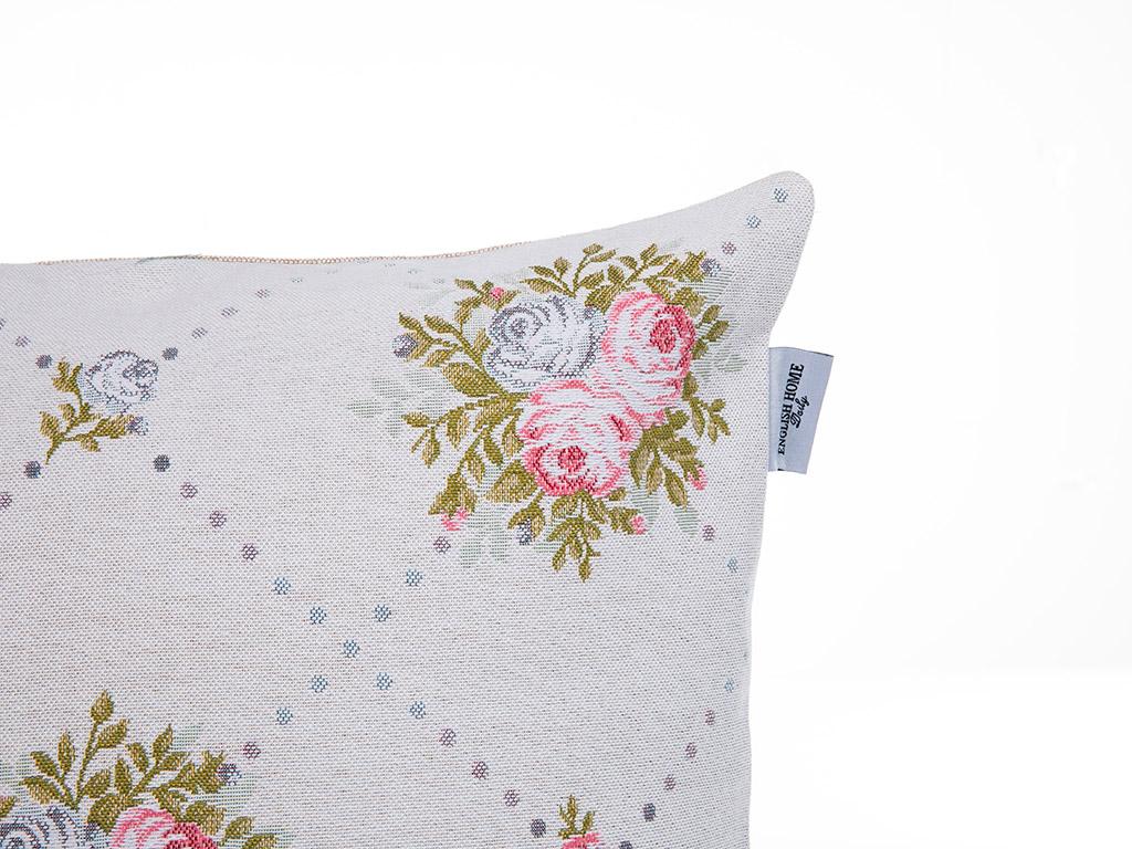 Pale Roses Goblen Kırlent 45x45 Cm Pembe