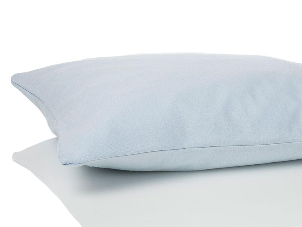 Düz Penye Bebe Yastık Kılıfı 35x45 Cm Mavi