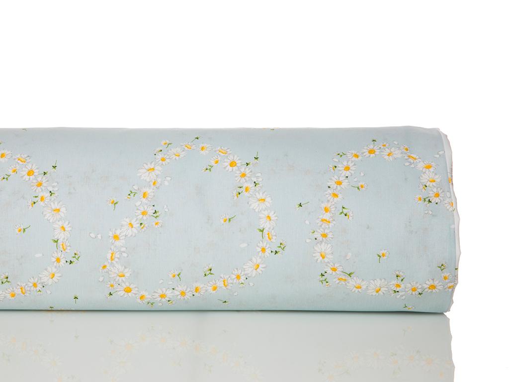 Daisy Love Pamuklu Tek Kişilik Nevresım 160x220 Cm Beyaz