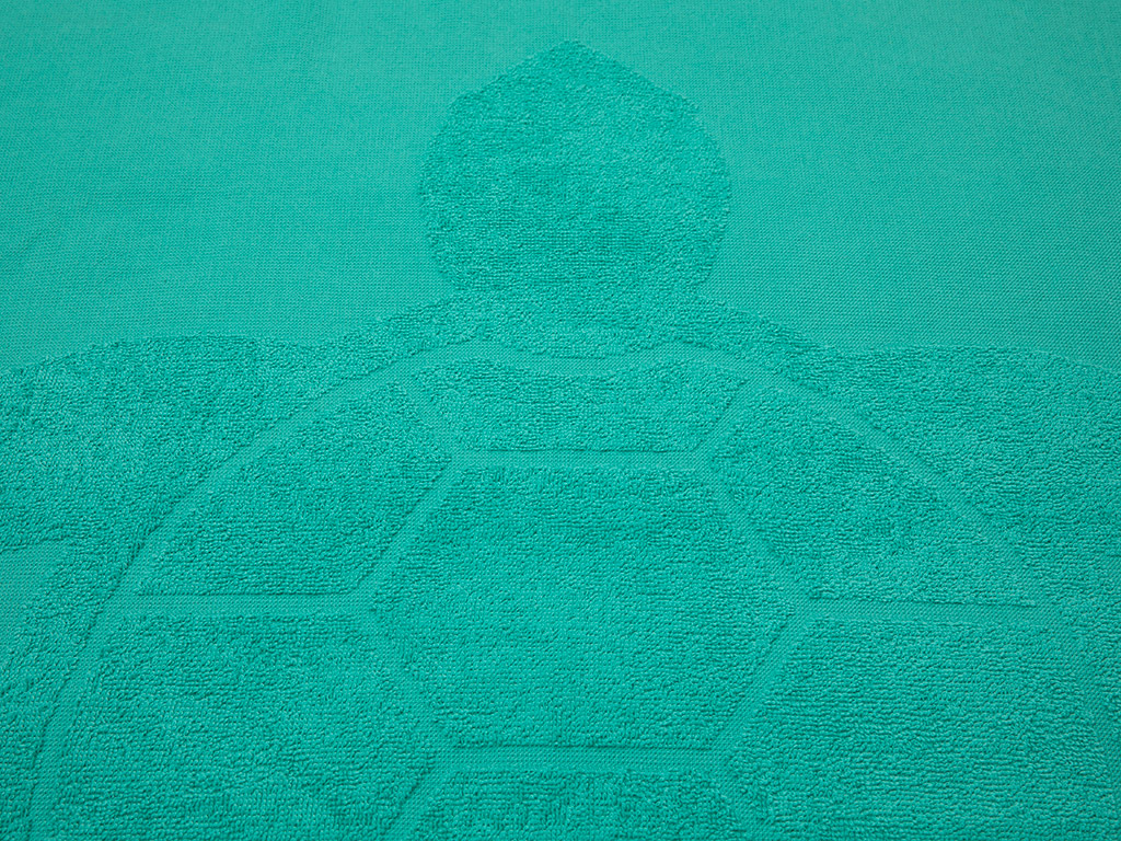 Caretta Jakarlı Plaj Havlusu 80x150 Cm Yeşil