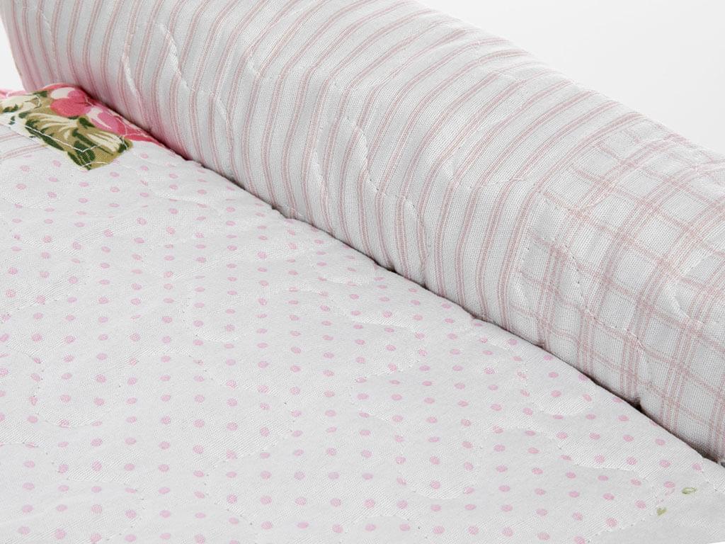 Harper Patchwork Tek Kişilik Yatak Örtüsü Takımı 160x240 Cm Pembe