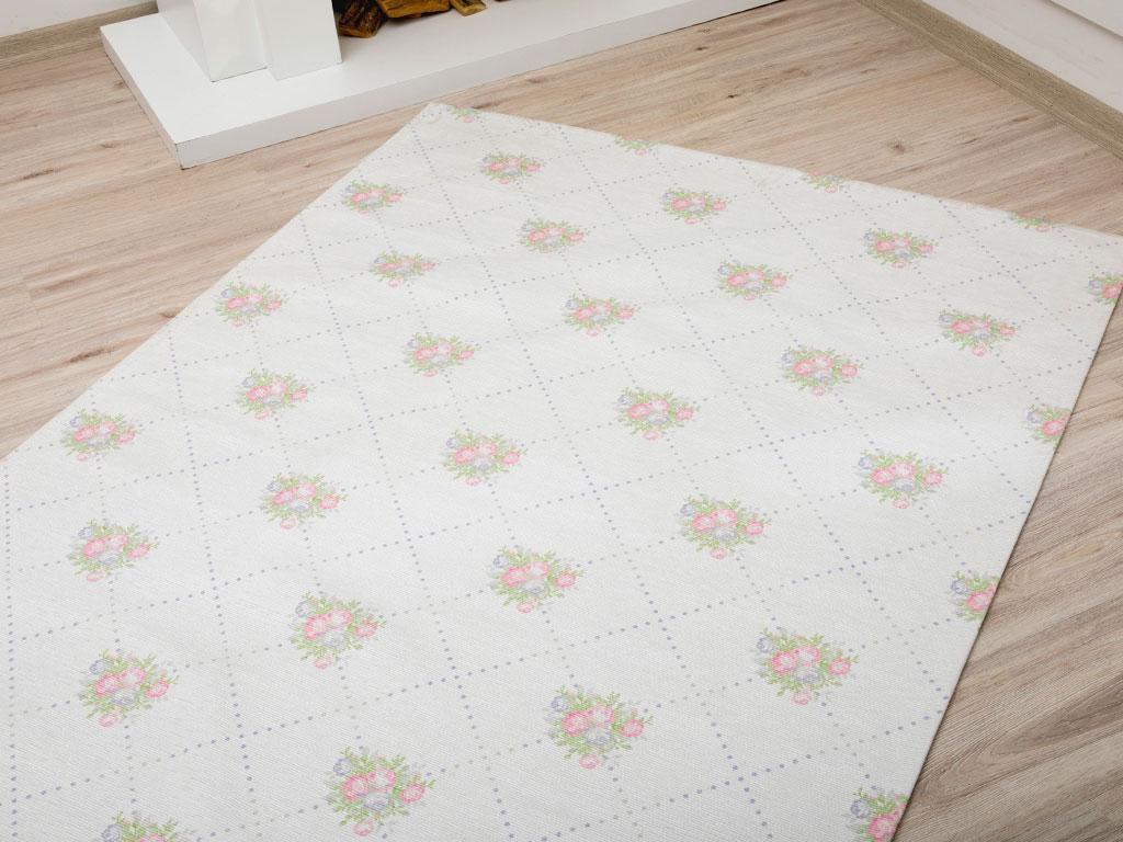 Pale Roses Baskılı Halı 120x180 Cm Pembe