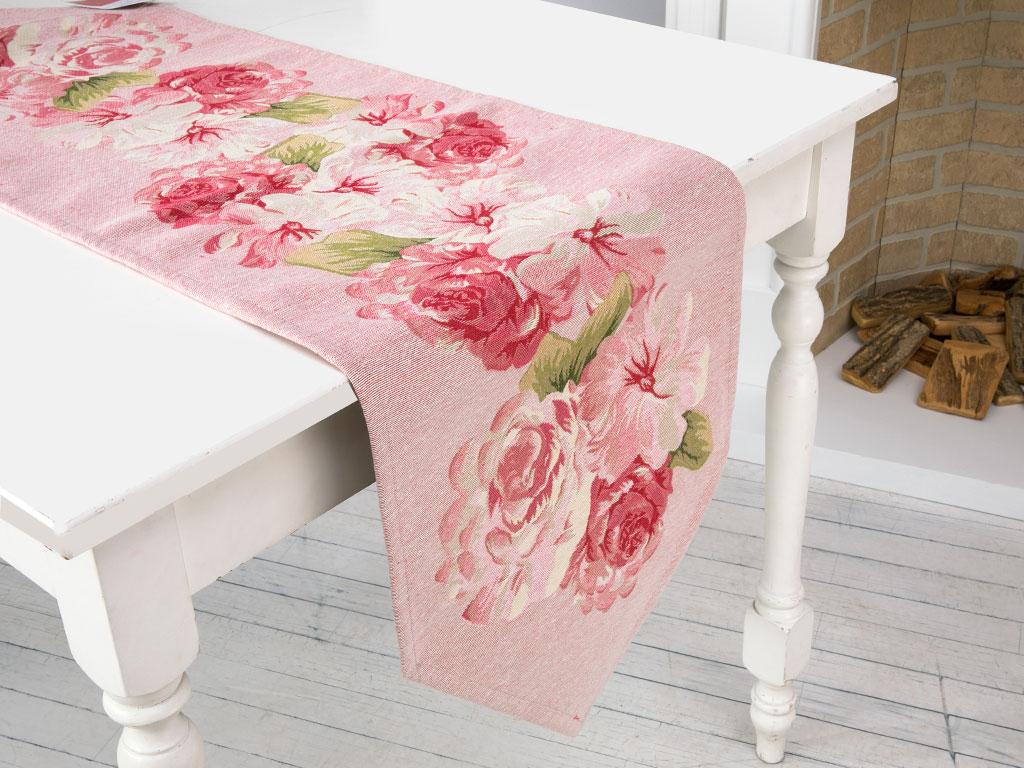 Dreamy Roses Goblen Runner 35x105 Cm Pembe