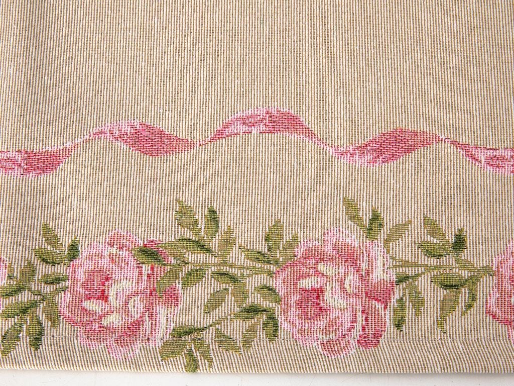 Pink Roses Goblen Runner 35x135 Cm Açık Pembe