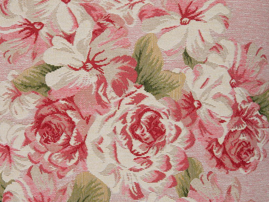 Dreamy Roses Goblen Dolgusuz Kırlent Kılıfı 45x45 Cm Pembe